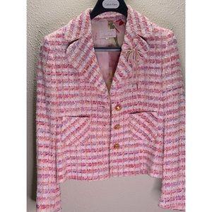 Escada Couture Women Pink Tweed Blazer Size 36
